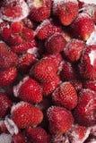 Frozen strawberries Royalty Free Stock Photos
