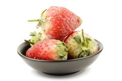 Frozen Strawberries in a Bowl Stock Photos