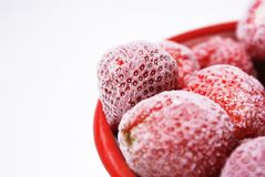 Frozen strawberries Stock Images