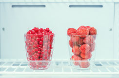 Frozen strawberries and red currants Royalty Free Stock Photography