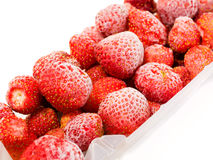 Frozen strawberries Royalty Free Stock Photo