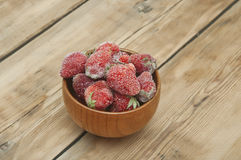 Frozen strawberries Royalty Free Stock Images