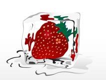 Frozen strawberry Stock Photo