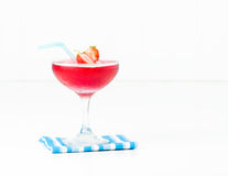 Frozen Strawberry Cocktail Royalty Free Stock Images