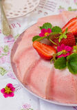 Frozen strawberry jelly Royalty Free Stock Photo