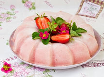 Frozen strawberry jelly Royalty Free Stock Image