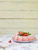 Frozen strawberry jelly Stock Images