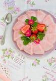 Frozen strawberry jelly Stock Photography
