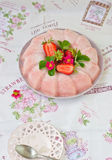 Frozen strawberry jelly Stock Image