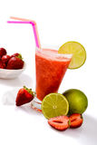 Frozen strawberry margarita Royalty Free Stock Image