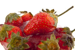 Frozen strawberry Stock Image