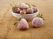 Frozen strawberry Royalty Free Stock Photos