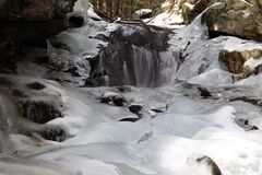 Frozen stream Royalty Free Stock Photos