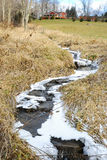 Frozen Stream by Country Cottage Stock Photo