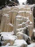 Frozen stream ice fall  Royalty Free Stock Photo