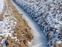 Frozen stream in winter Stock Image