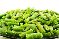 Frozen string beans Royalty Free Stock Photos