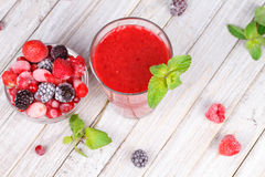 Frozen summer berries smoothie Royalty Free Stock Image