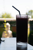 Frozen Summer Drink in Silhouette Royalty Free Stock Images