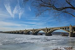 Frozen Susquehann River Royalty Free Stock Image