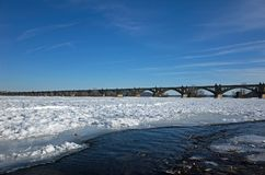 Frozen Susquehann River Royalty Free Stock Images
