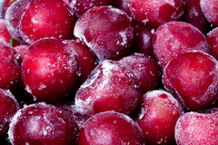 Frozen sweet cherry. Royalty Free Stock Photos