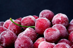 Frozen sweet cherry. Stock Photos