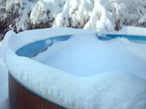 Frozen Swimming Pool Royalty Free Stock Photo