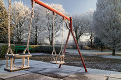 Frozen swing Royalty Free Stock Photo
