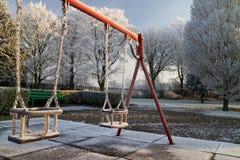 Frozen swing Royalty Free Stock Photo