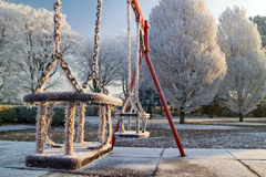 Frozen swings Royalty Free Stock Photos