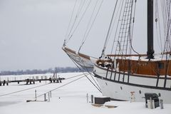Frozen Tallship Royalty Free Stock Image