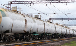Frozen tanks with liquefied gas Royalty Free Stock Photo