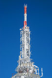 Frozen telecommunication tower Royalty Free Stock Images