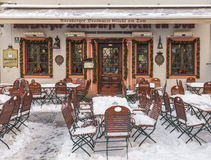 Frozen Terrace Royalty Free Stock Photography