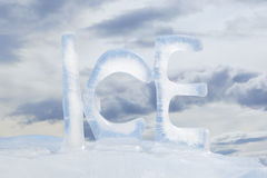 Frozen text ICE Royalty Free Stock Images