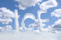 Frozen text ICE Stock Photo