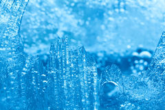 Frozen textured ice macro view. Icy pattern background. Stock Photography