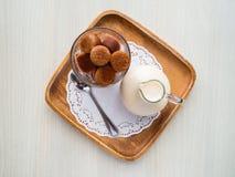 Frozen thai tea in glass Royalty Free Stock Photo