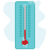 Frozen thermometer Stock Photo