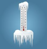 Frozen thermometer Stock Photos