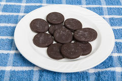 Frozen Thin Mint Cookies Royalty Free Stock Image
