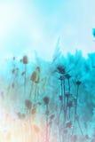 Frozen thistle - burdock Royalty Free Stock Images
