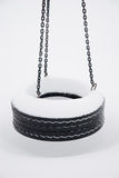 Frozen Tire Swing Stock Image