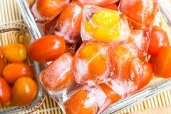 Frozen tomato Royalty Free Stock Photo