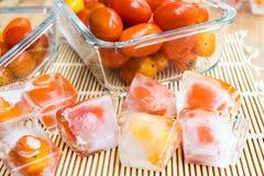 Frozen tomato Royalty Free Stock Photos