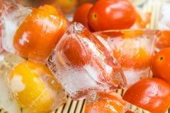 Frozen tomato Stock Photos