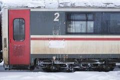 Frozen train wagon Stock Photos