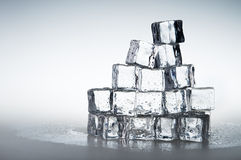 Frozen transparent  ice cubes background Stock Photo
