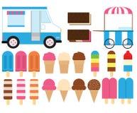 Frozen Treats. A set of cute frozen treat designs royalty free illustration
